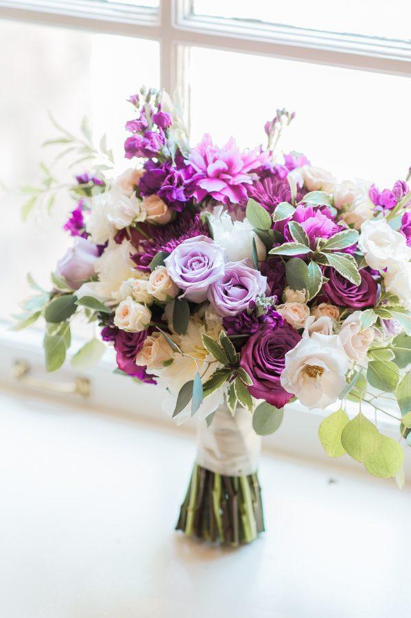 bridal bouquet by ashton creative in sunnybrook estates window