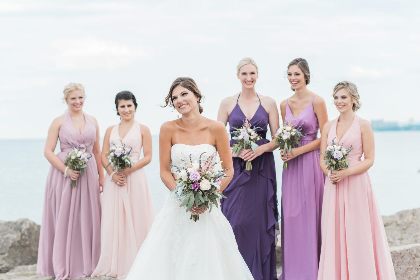 bridal party at lakeview burlington