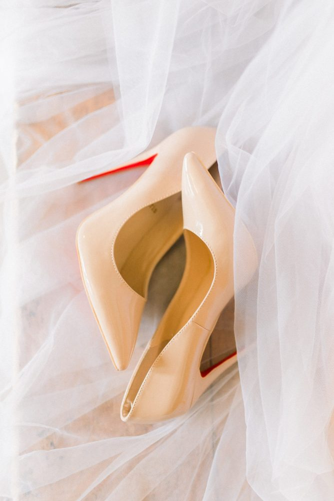christian louboutin wedding detail shoes